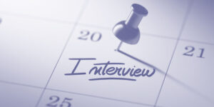 Pin in calendar for an interview
