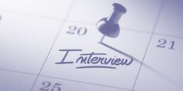 Pin in calendar for an interview